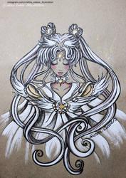 Sketch color Sailor Cosmos - Fanart Sailor Moon by CrisEsHer