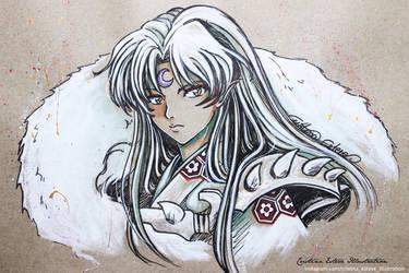 Sketch color Sesshomaru - Fanart Inuyasha by CrisEsHer