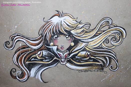 Sketch Color Lina Inverse L.O.N - Fanart Slayers