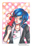 Marinette and Tikki - Fanart Miraculous Ladubyg