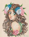 La belle Ayumi entre les fleurs - OC
