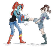 Kickboxing by Doodlee-a