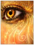 Eyes on fire.