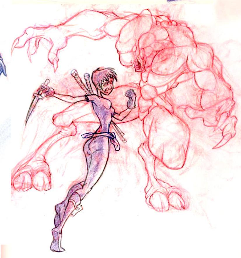 Sketchpad: Assassin VS Demon by AlKang