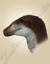 Deinonychus head study by amorousdino