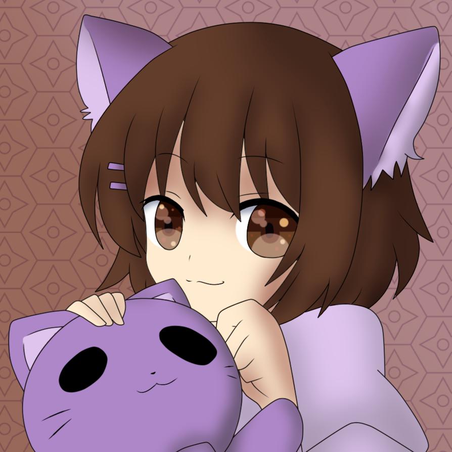 Cute Neko Girl by That-Lineart