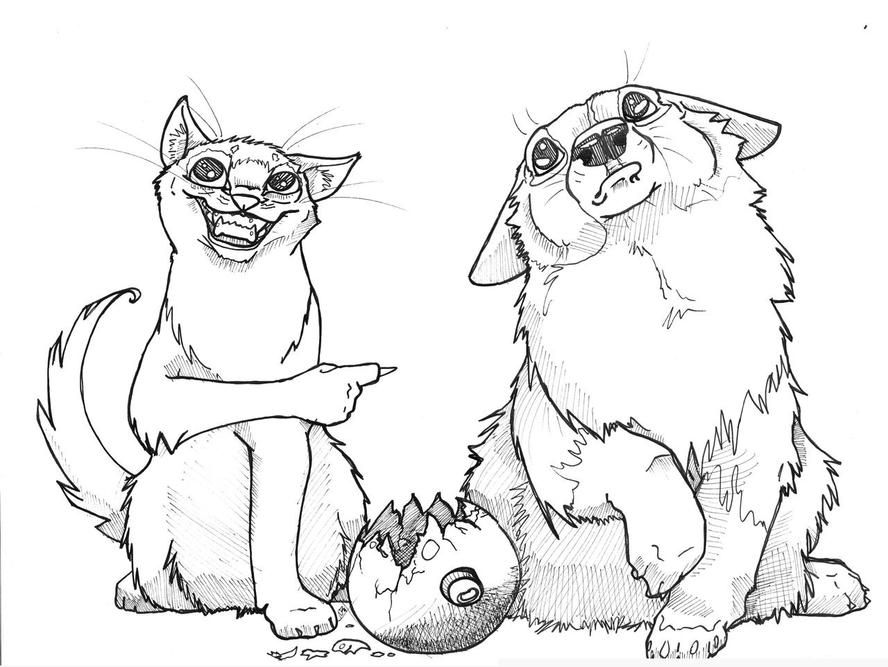 Cat drawings tough cheese small paws for Small art drawings