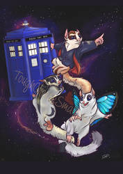 Commission:  Dr. Who sugar gliders by Ned-No-D