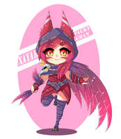 XAYAH CHIBI - league of legends by Tacky-Chan