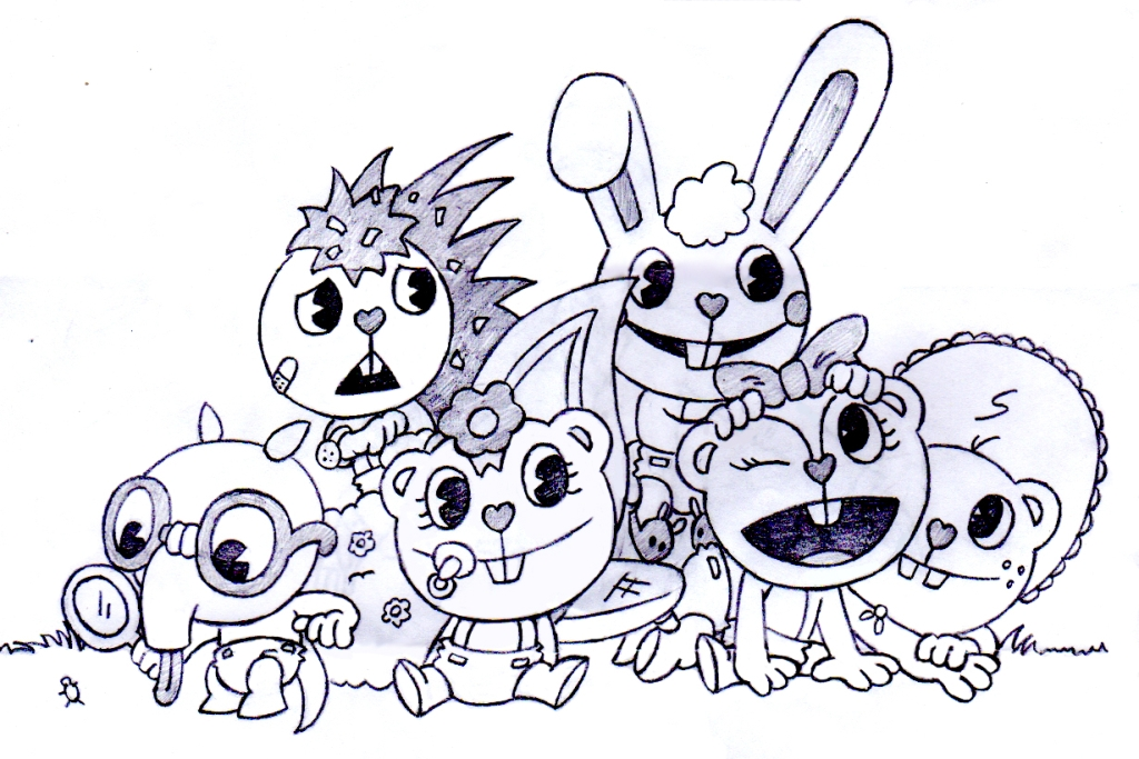 happy tree friends coloring pages - photo#15