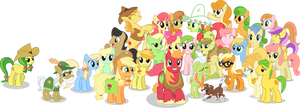 Apple Family no BG (Clothed Braeburn) by AppleFamily
