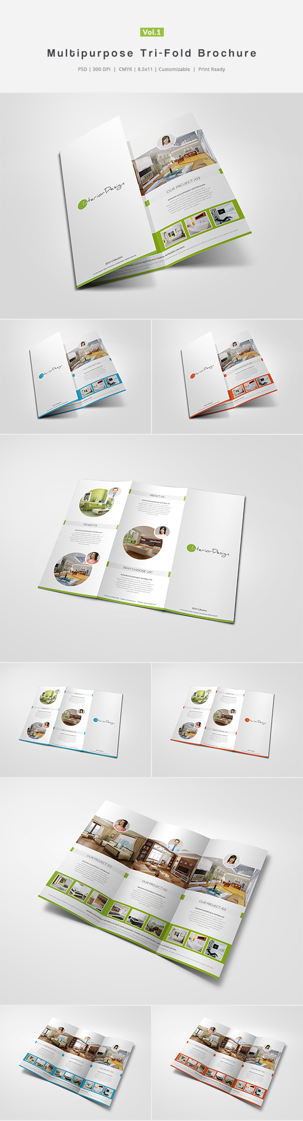 Multipurpose Tri-Fold Brochure Vol.1 by shapshapy on ...