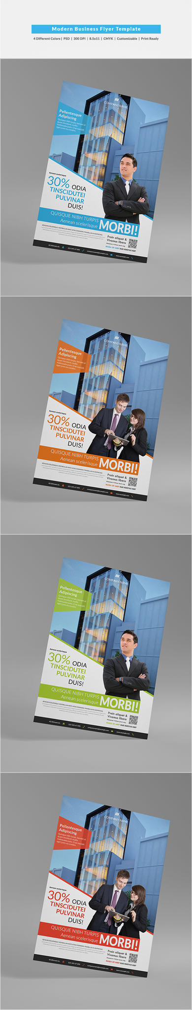 Modern Business Flyer Template by shapshapy