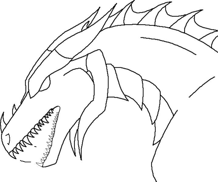 Simple Dragon Line Art : Dragon head line art by firestormhorses on deviantart