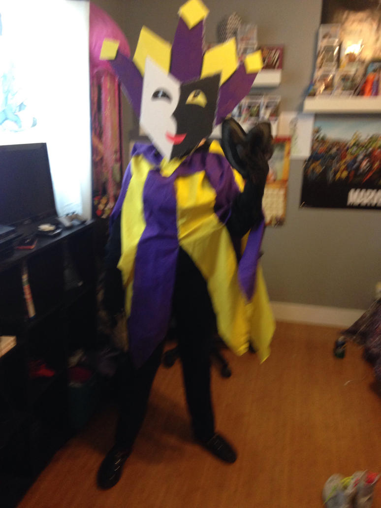 Finished Dimentio cosplay by iloveyousonicEXE