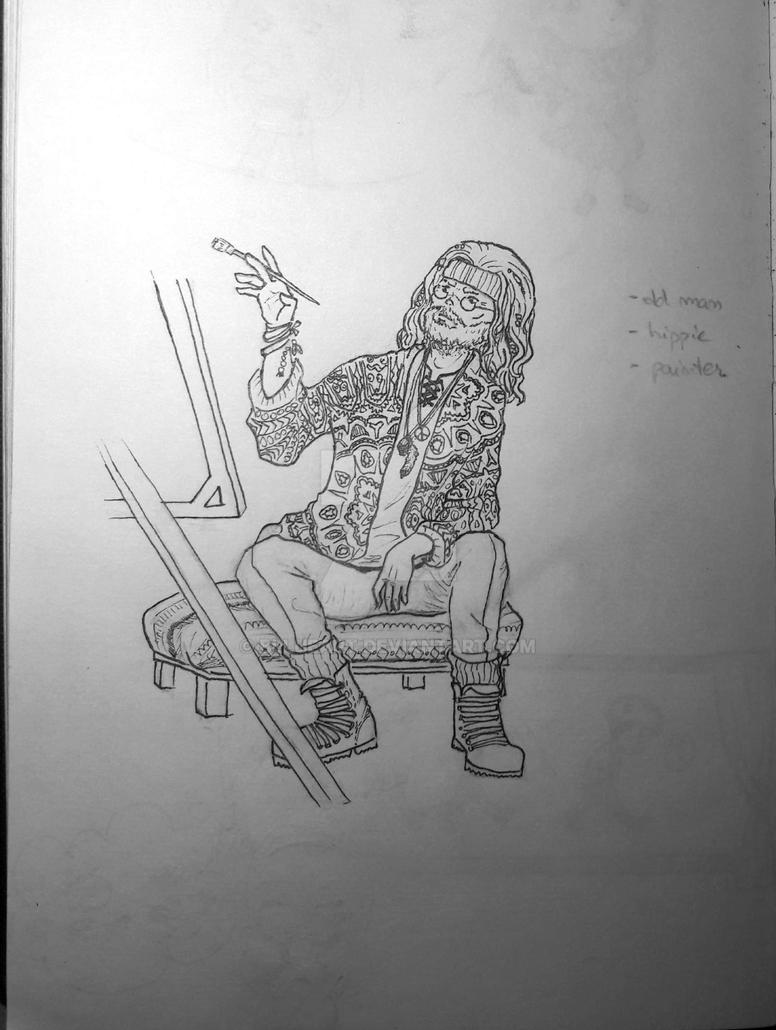 Hipster Painter by bllueart
