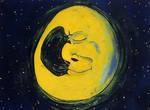 man moon