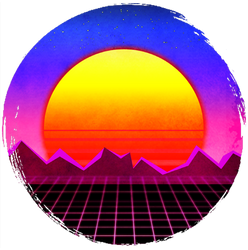 80s Retro Sunset (T-shirt)