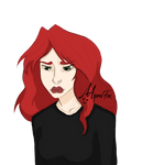 Jade is a little bit sad today :c by AspraFox