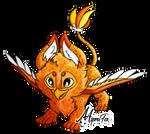 Marmalade, Boxle's griffin pup by AspraFox