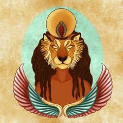 Sekhmet, war deity  by AspraFox