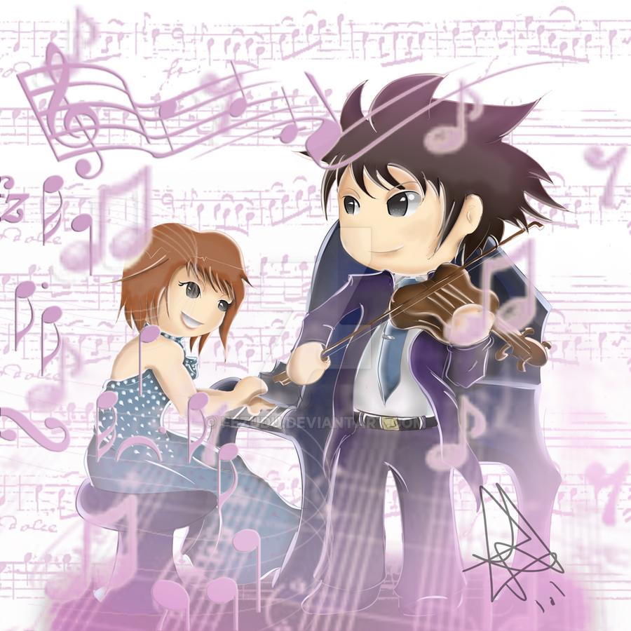Shinichi Chiaki E Megumi Noda (Nodame Cantabile) By Fezudu