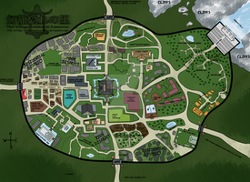 Village Map (Descriptions coming soon!) by TraceofHatred
