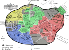 Political Map (First Faction War) by TraceofHatred
