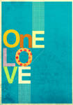 one love typographic by B-Roots