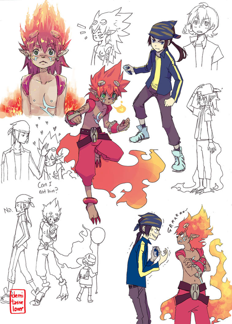 Flamon sketch dump by demitasse-lover