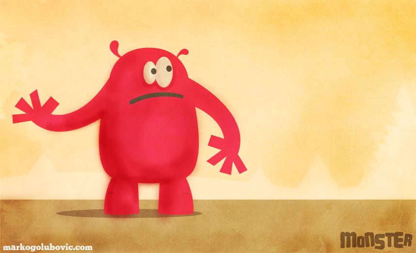 Monster character 1 - MonnStar by markogolubovic