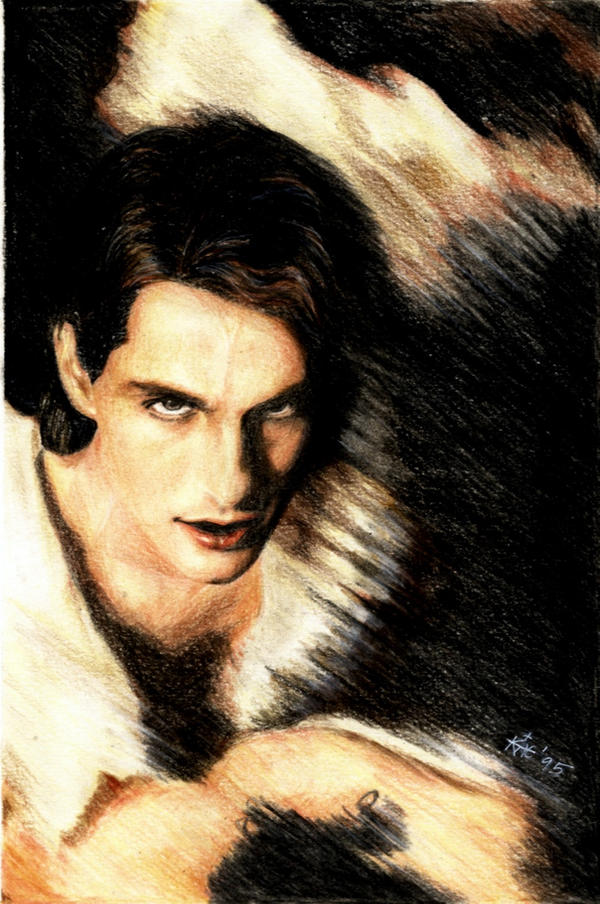 entrevista con el vampiro en oleo y acuarelas Tom_Cruise___Lestat_by_akaLilith