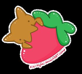 My Kitty Likes Strawberries by Kiki-Myaki