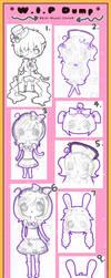 W.I.P Dump 1 by Kiki-Myaki