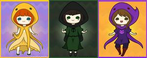 God Tier Cuties - Set 1 by Kiki-Myaki