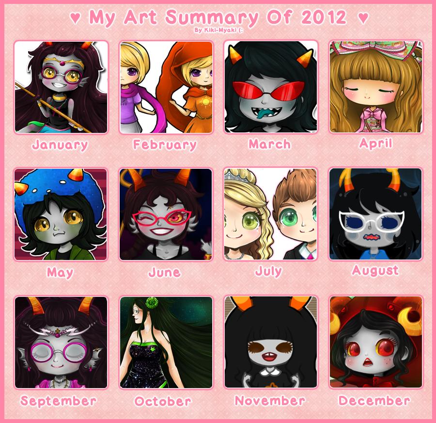 2012 Summary of Art (: by Kiki-Myaki