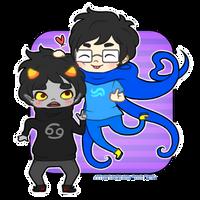 John and Karkat - Be cute anime boyfriends by Kiki-Myaki