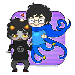 John and Karkat - Be cute anime boyfriends by Kiki-Myaki