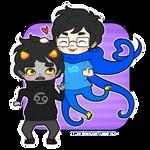 John and Karkat - Be cute anime boyfriends