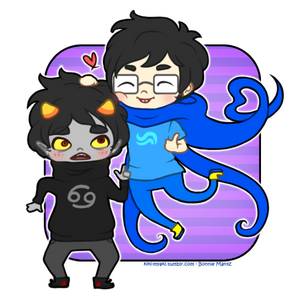 John and Karkat - Be cute anime boyfriends