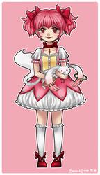 Madoka and Kyubey by Kiki-Myaki