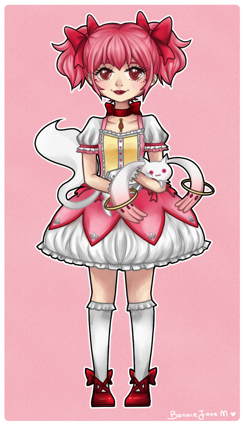 Madoka and Kyubey by Kiki-Myaki
