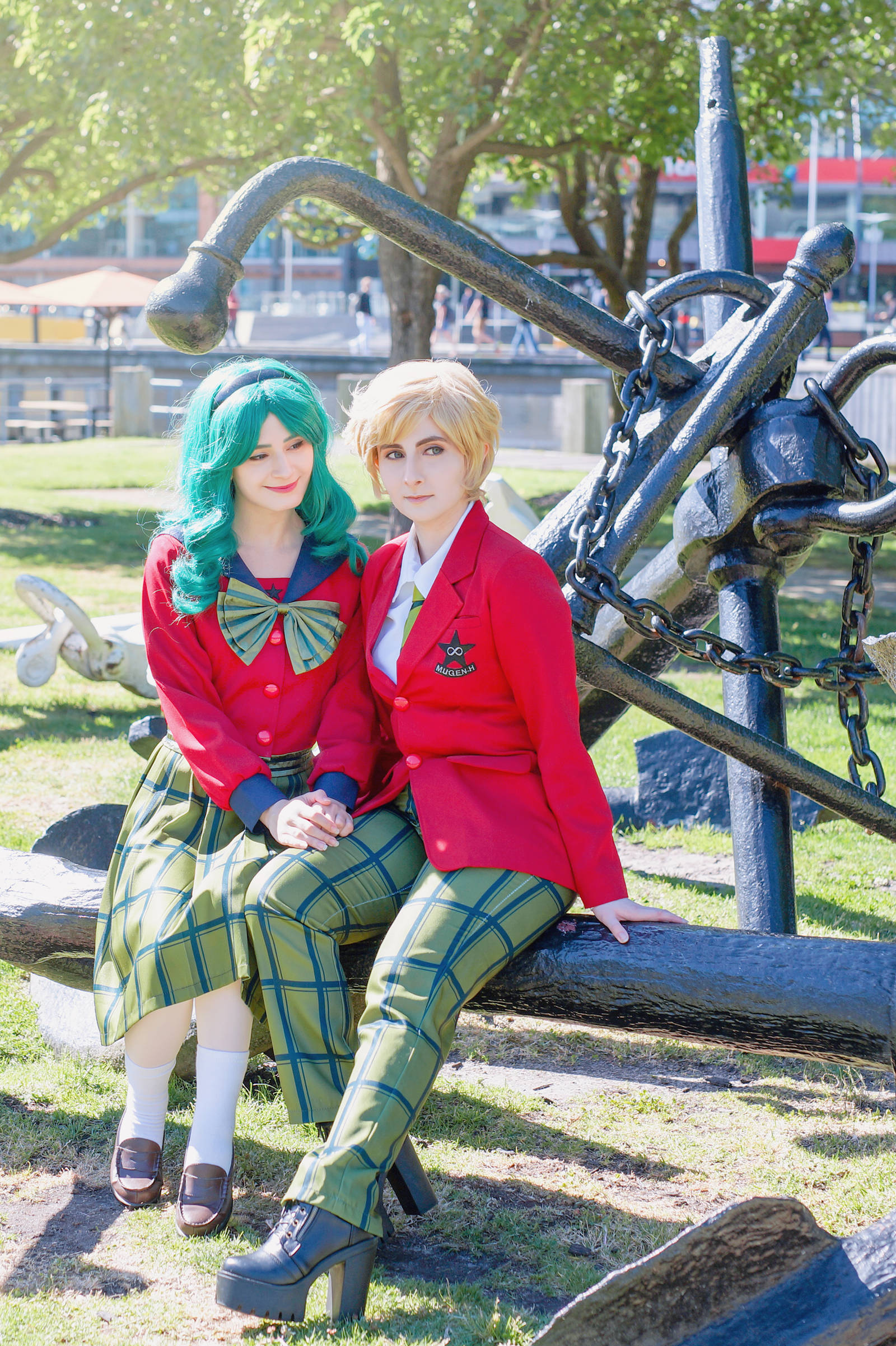 Sailor Moon - Haruka Tenoh + Michiru Kaioh Cosplay by Kiki-Myaki
