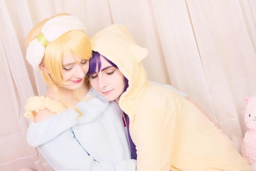 Love Live! - Nozomi + Eli Nozoeli [Pyjama] Cosplay