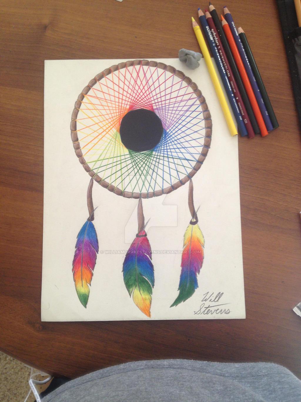 Color art dreamcatcher -  Williamdrakestevens Study Of The Color Wheel Dreamcatcher By Williamdrakestevens