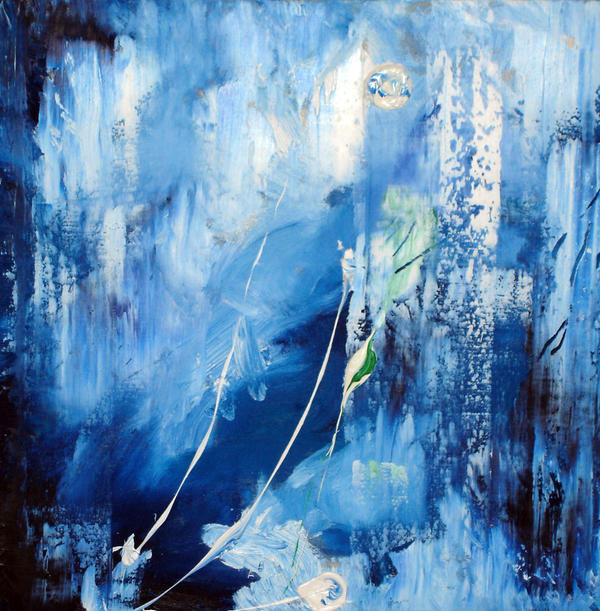Blue Abstract Painting by NeilR1 on DeviantArt