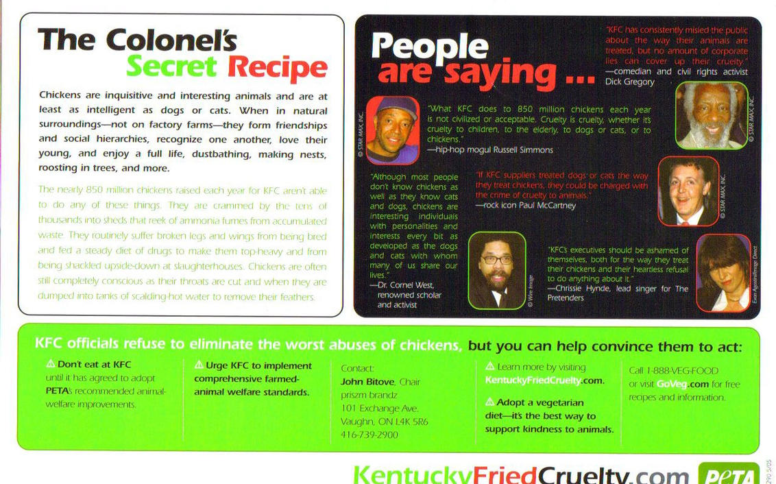 kfc pamphlets by gerard fanatic