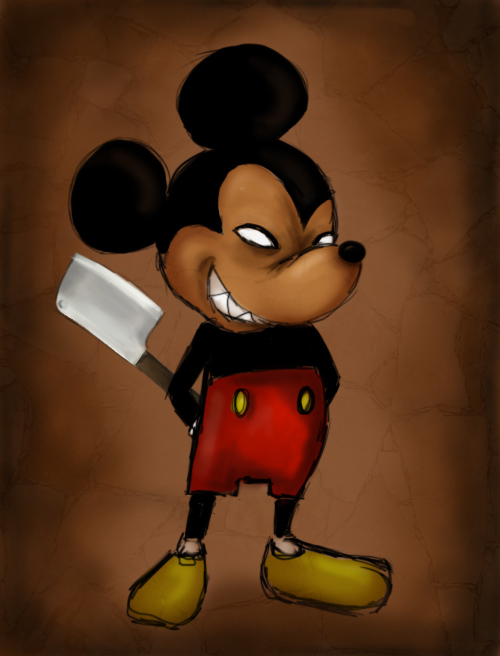 Evil Mouse by pettitfraise on DeviantArt Mickey Mouse Love Drawings