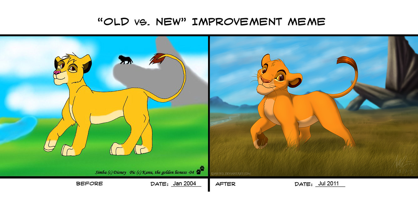 Old vs. New Improvement meme by KanuTGL