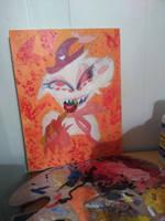 Creepy Hazbin AngelDust Painting